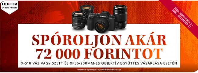 Bemutatkozik a Fujifilm legújabb tagja, a Fujifilm X-S10 fényképezőgép