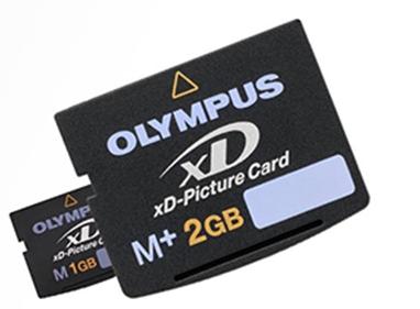 Olympus xD kártyák a Tennóban