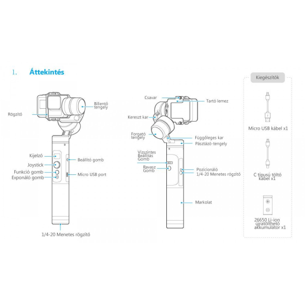 Feiyu-tech G6 időjárásálló 3 tengelyes stabilizátor gimbal 08
