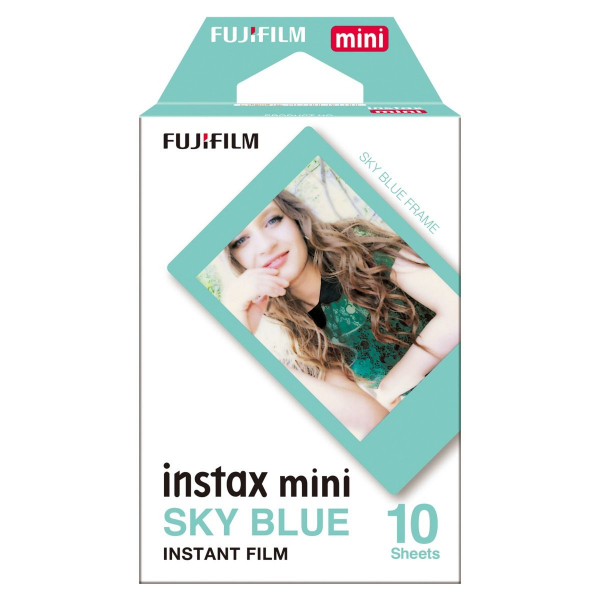 Fujifilm Instax mini film BLUE FRAME, Instax gépekhez, 10 db-os 03