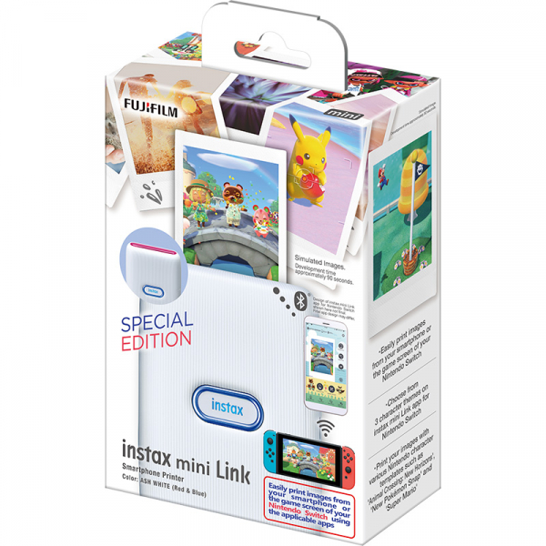 Fujifilm Instax Mini Link fotónyomtató -Nintendo Switch Edition -Ash White (Red&Blue) 07