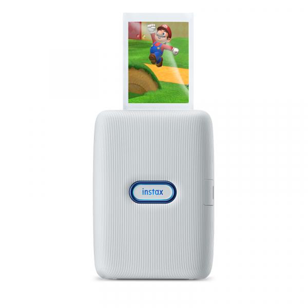 Fujifilm Instax Mini Link fotónyomtató -Nintendo Switch Edition -Ash White (Red&Blue) 09