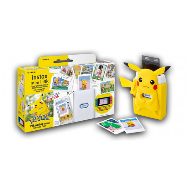 Fujifilm Instax Mini Link fotónyomtató -Nintendo Switch Edition -Pikachu Szilikon tokkal 06