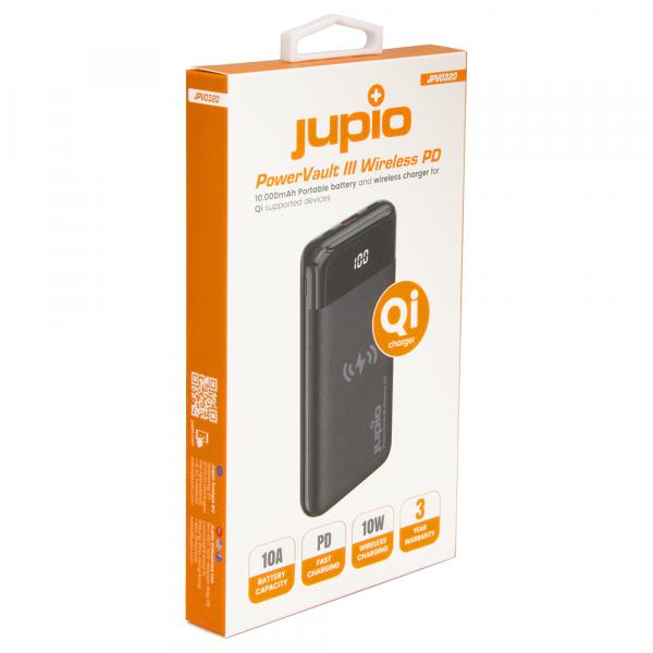 Jupio Power Vault III Wireless PD külső akkumulátor 10000 mAh 05