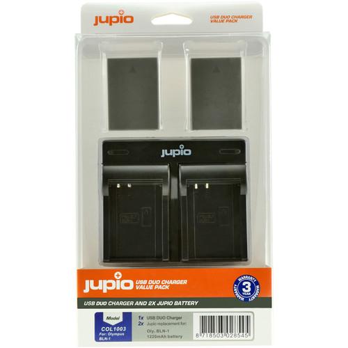 Jupio utángyártott-akkumulátor és dual charger kit Olympus fényképezőgépekhez,PS-BLN1 BLN-1 03