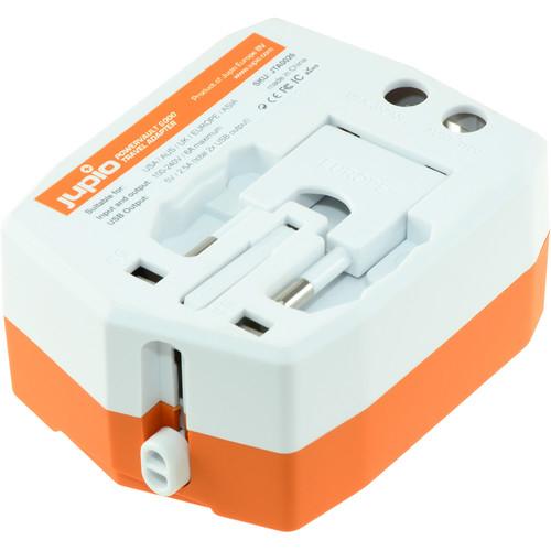 Jupio világutazó adapter külső akkumulátor, 2db USB csatlakozóval, 6000mAh powerbank 04