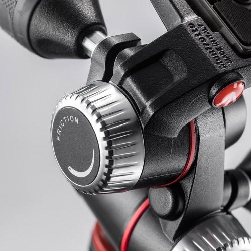Manfrotto 055 kit alu 3 szekciós állvány horiz. oszloppal + 3D fej 04