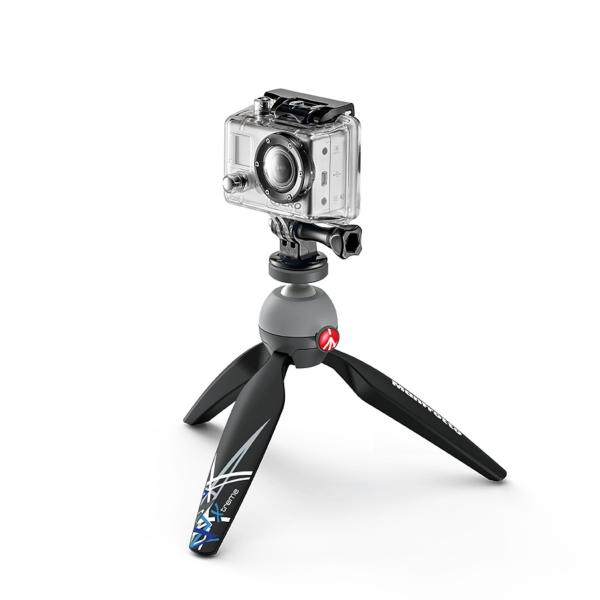 Manfrotto Pixi mini állvány GoPro adapterrel 04