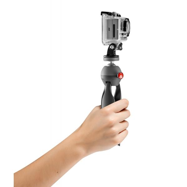 Manfrotto Pixi mini állvány GoPro adapterrel 07