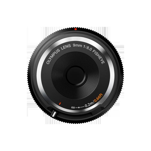 Olympus M.Zuiko 9mm 1:8.0 vázsapka méretű halszem objektív 05