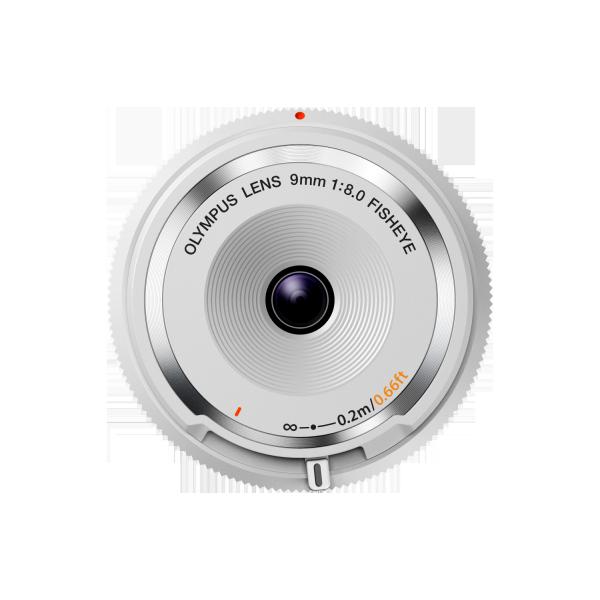 Olympus M.Zuiko 9mm 1:8.0 vázsapka méretű halszem objektív 03