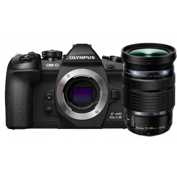 Olympus OM-D E-M1 Mark III digitális fényképezőgép 12-100 IS PRO KIT,  ED 12‑100mm 1:4.0 PROobjektívvel 03