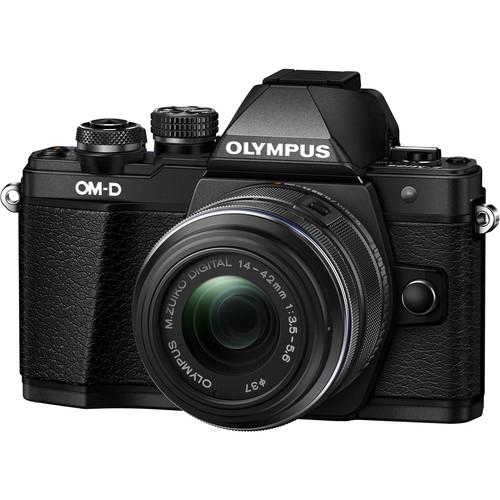 Olympus OM-D E-M10 Mark II digitális fényképezőgép kit, M.ZUIKO DIGITAL ED 14‑42mm EZ Pancake objektívvel 16