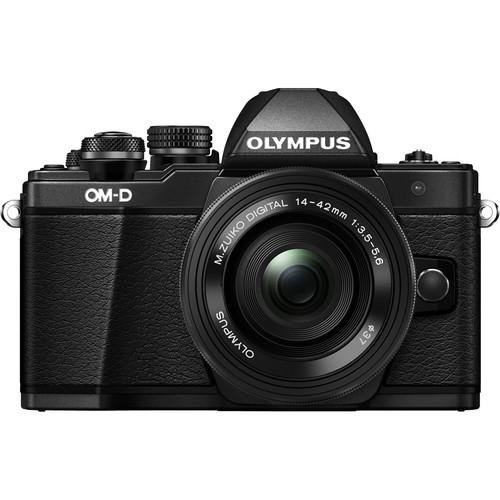 Olympus OM-D E-M10 Mark II digitális fényképezőgép kit, M.ZUIKO DIGITAL ED 14‑42mm EZ Pancake objektívvel 14