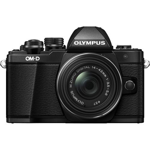 Olympus OM-D E-M10 Mark II digitális fényképezőgép kit, M.ZUIKO DIGITAL ED 14‑42mm EZ Pancake objektívvel 17