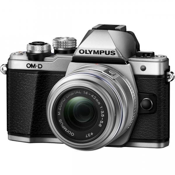 Olympus OM-D E-M10 Mark II Pancake Double Zoom Kit, 14‑42mm EZ Pancake és 40‑150mm R objektívekkel 05