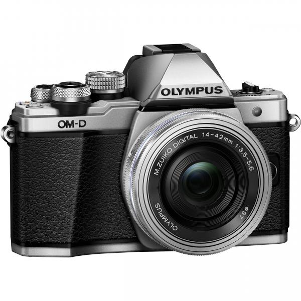 Olympus OM-D E-M10 Mark II Pancake Double Zoom Kit, 14‑42mm EZ Pancake és 40‑150mm R objektívekkel 08