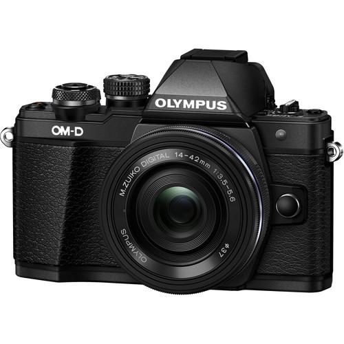 Olympus OM-D E-M10 Mark II Pancake Double Zoom Kit, 14‑42mm EZ Pancake és 40‑150mm R objektívekkel 16