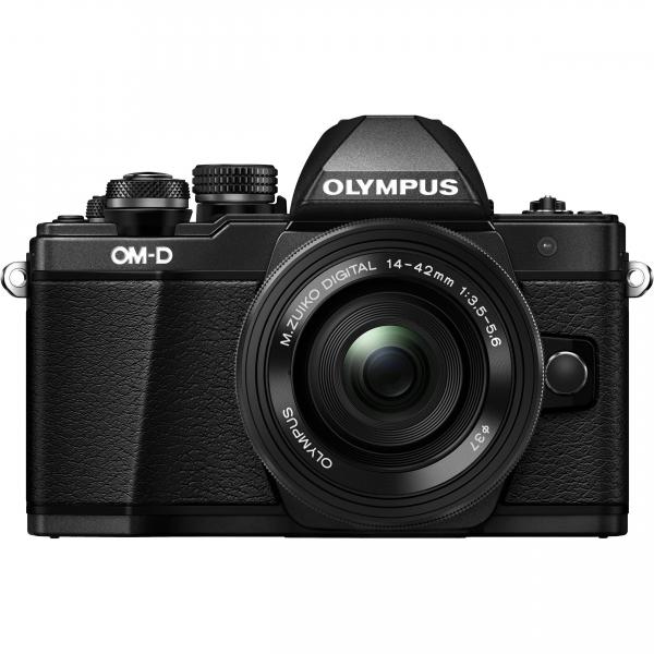 Olympus OM-D E-M10 Mark II Pancake Double Zoom Kit, 14‑42mm EZ Pancake és 40‑150mm R objektívekkel 18