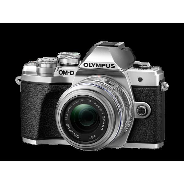 Olympus OM-D E-M10 Mark III digitális fényképezőgép DZK kit, 14‑42mm II R és ED 40‑150mm R objektívekkel 04