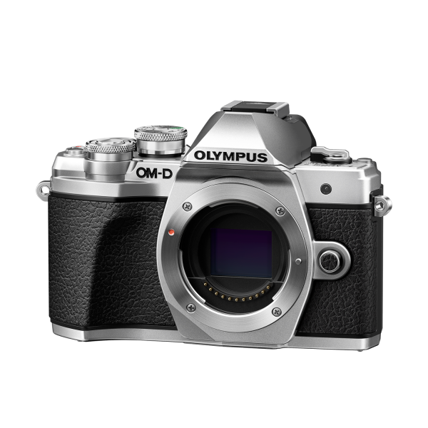 Olympus OM-D E-M10 Mark III digitális fényképezőgép DZK kit, 14‑42mm II R és ED 40‑150mm R objektívekkel 05
