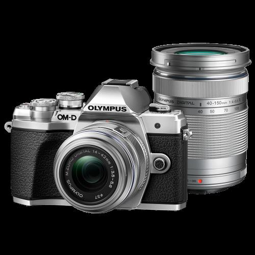 Olympus OM-D E-M10 Mark III digitális fényképezőgép DZK kit, 14‑42mm II R és ED 40‑150mm R objektívekkel 03