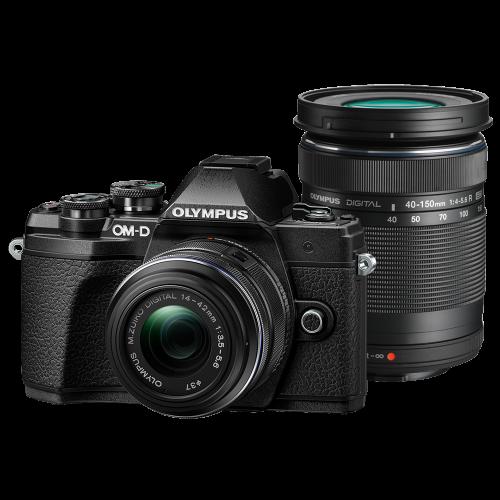 Olympus OM-D E-M10 Mark III digitális fényképezőgép DZK kit, 14‑42mm II R és ED 40‑150mm R objektívekkel 10