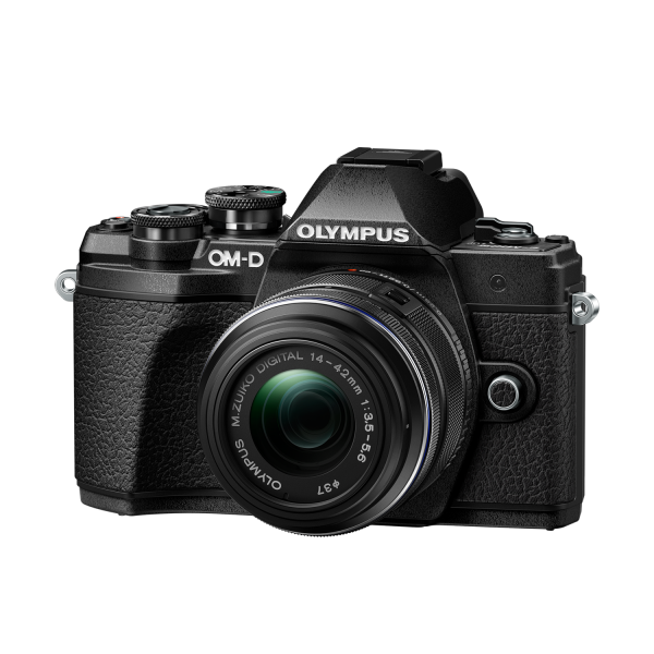 Olympus OM-D E-M10 Mark III digitális fényképezőgép DZK kit, 14‑42mm II R és ED 40‑150mm R objektívekkel 11