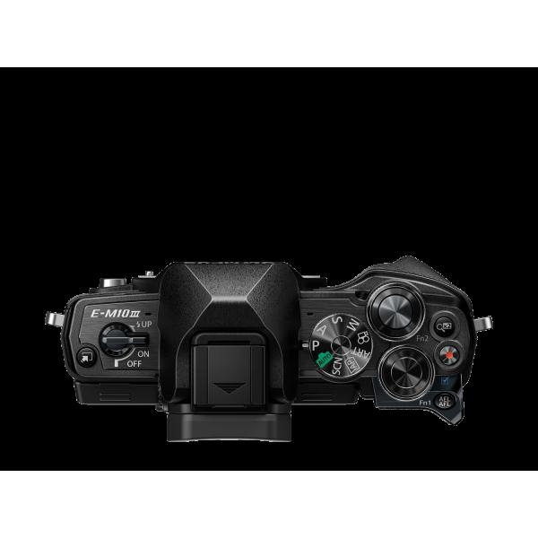 Olympus OM-D E-M10 Mark III digitális fényképezőgép DZK kit, 14‑42mm II R és ED 40‑150mm R objektívekkel 13