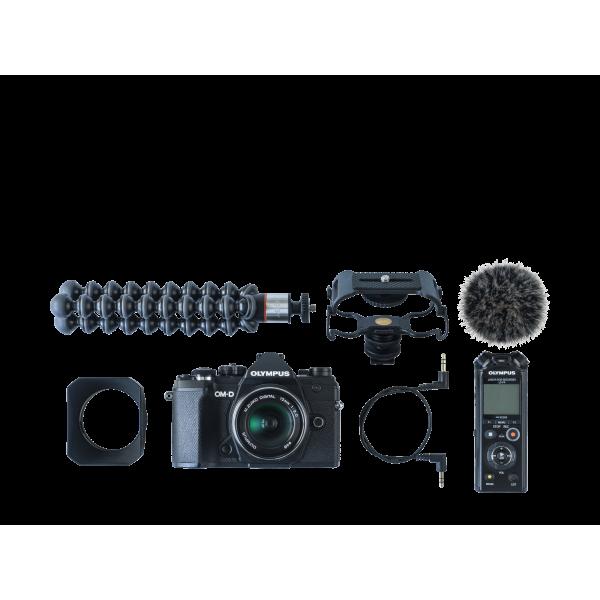 Olympus OM-D E-M5 Mark III digitális fényképezőgép váz + M. Zuiko Digital 12 mm objektív Vlogger KIT 10