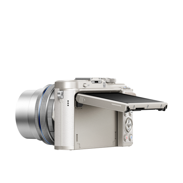 Olympus Pen Lite E-PL9 Pancake Zoom Kit: M.Zuiko Digital ED 14‑42mm 1:3.5‑5.6 EZ Pancake objektívvel 06