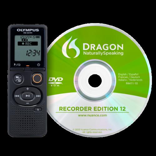 Olympus VN-541PC diktafon + DNS12 (ANGOL) beszédfelismerő szoftver 03