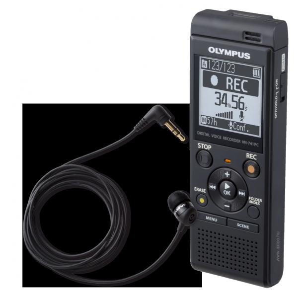 Olympus VN-741PC diktafon TP-8 telefonadapterrel 03