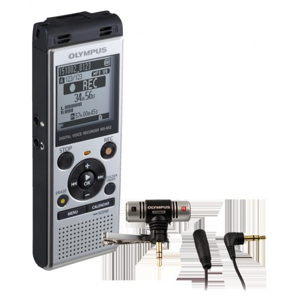 Olympus WS‑852 diktafon ME51 sztereó mikrofonnal 03