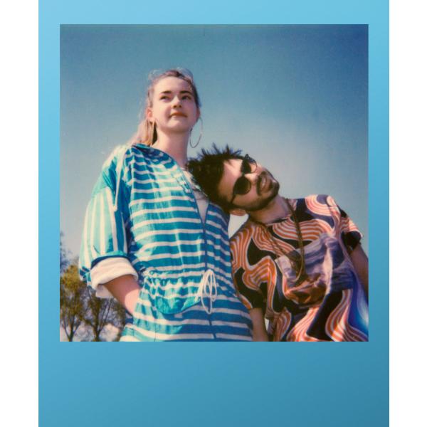 Polaroid színes i-Type Film, 8 féle kék kerettel, Summer Blues, i-Type kamerához, 8db instant fotó 04