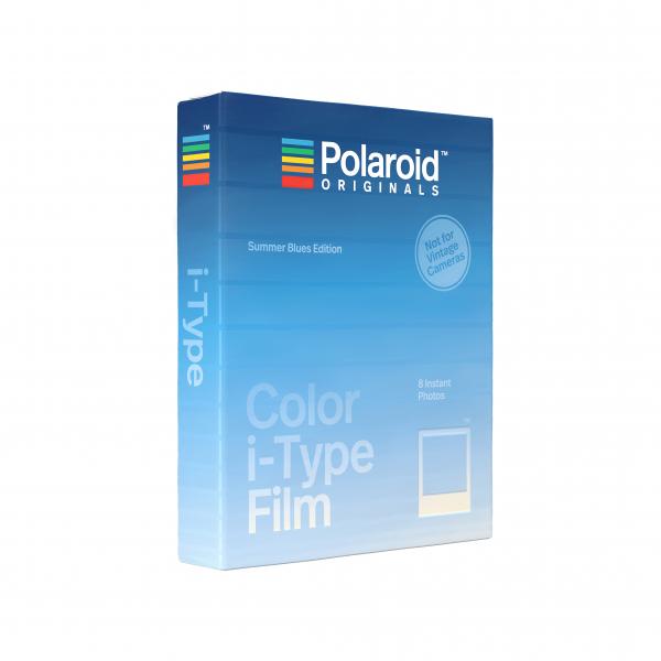 Polaroid színes i-Type Film, 8 féle kék kerettel, Summer Blues, i-Type kamerához, 8db instant fotó 07