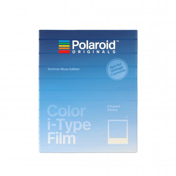Polaroid színes i-Type Film, 8 féle kék kerettel, Summer Blues, i-Type kamerához, 8db instant fotó 03