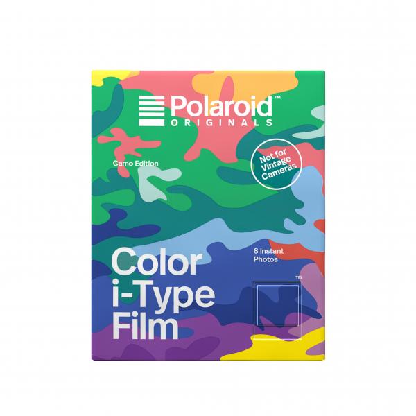 Polaroid színes i-Type Film, 8 féle mintás kerettel, Camo Edition, i-Type kamerához,8db instant fotó 03