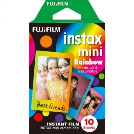 Fujifilm Instax mini film RAINBOW, Instax gépekhez, 10 db-os