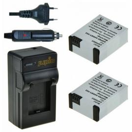 Jupio GoPro Hero 3 töltő + AHDBT-302 x2db 1200 mAh (Hero 3, Hero 3+) akkumulátorral (3év)