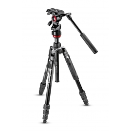 Manfrotto Befree live Aluminium tripod twist + video fej