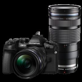 Olympus OM-D E-M1 Mark II digitális fényképezőgép PRO DUPLA kit, ED 12‑40mm PRO és ED 40‑150mm PRO objektívekkel