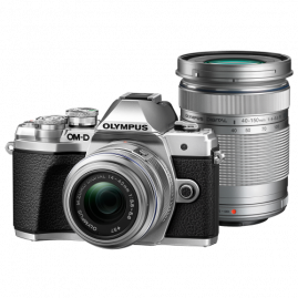 Olympus OM-D E-M10 Mark III digitális fényképezőgép DZK kit, 14‑42mm II R és ED 40‑150mm R objektívekkel